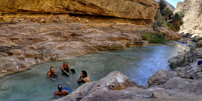 Tours to Jordan and Petra: hiking in the Dead Sea canyons