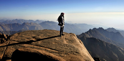Hiking in the High Range of Sinai