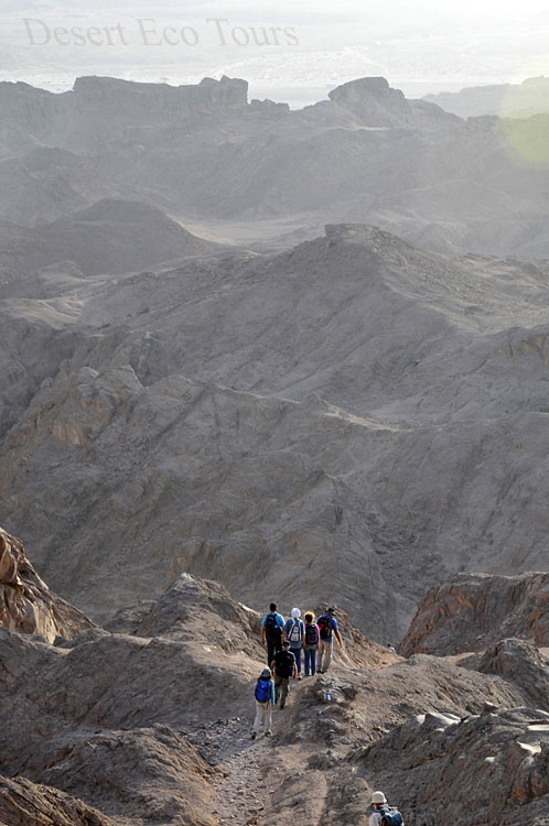 Hiking in the Timna Park