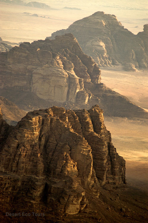 Wadi Rum from the air balloon
