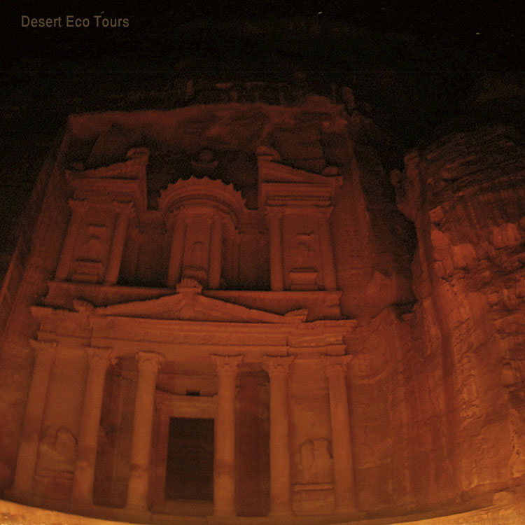 Petra by night tour from Eilat Israel