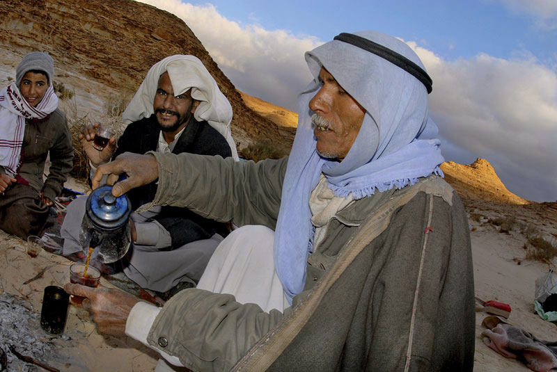 Bedouin tea in the Sinai desert