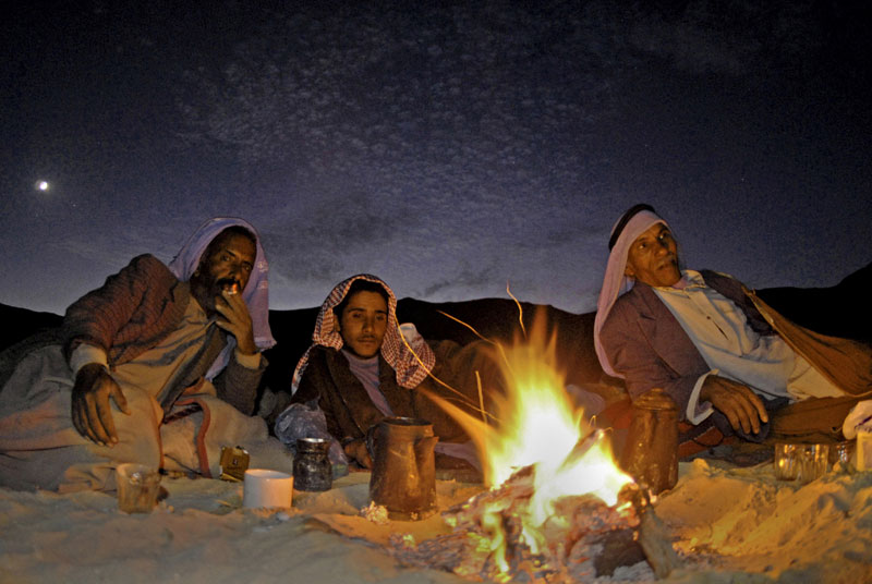 Night in the Sinai desert, Egypt