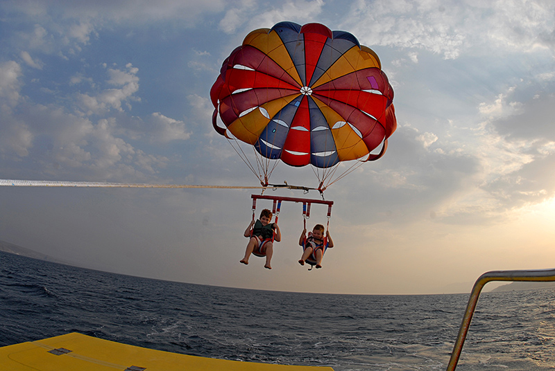 Parasailing in the Red Sea Eilat